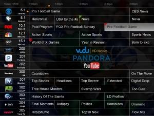 DVR+ EPG with OTT Content