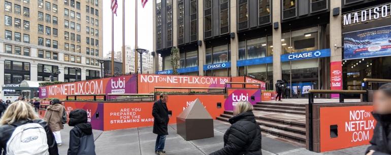 Tubi ads at Madison Square Garden